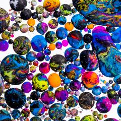 Abstract Acrylic colors in balls- Stock Photo or Stock Video of rcfotostock | RC-Photo-Stock
