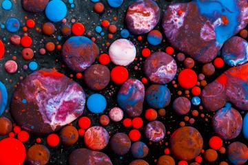 Abstract artistic color ink balls- Stock Photo or Stock Video of rcfotostock | RC-Photo-Stock