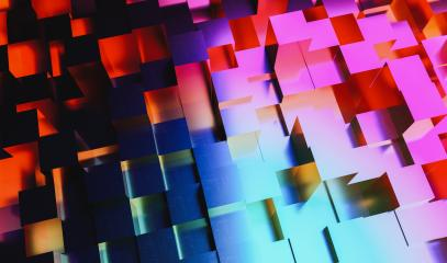 Abstract background of colorful neon light cubes, gaming, party an business concept image- Stock Photo or Stock Video of rcfotostock | RC-Photo-Stock