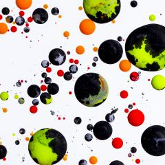 Abstract balls of Acrylic ink on white background- Stock Photo or Stock Video of rcfotostock | RC-Photo-Stock