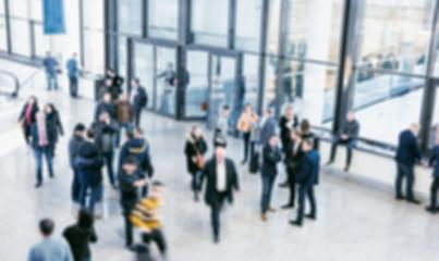abstract blurred crowd of defocused people at a trade show- Stock Photo or Stock Video of rcfotostock | RC-Photo-Stock