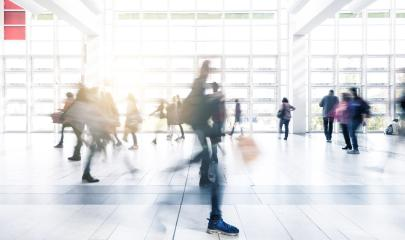 Abstract blurred Exhibition visitors walking- Stock Photo or Stock Video of rcfotostock | RC-Photo-Stock