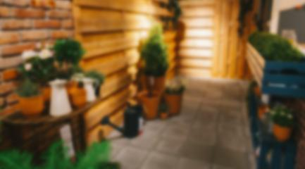 abstract blurred outdoor garden balcony on day time- Stock Photo or Stock Video of rcfotostock | RC-Photo-Stock
