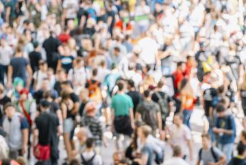 abstract blurred people at a trade fair- Stock Photo or Stock Video of rcfotostock | RC-Photo-Stock