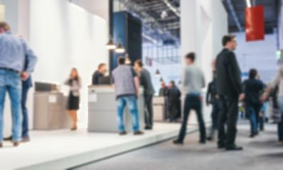 Abstract blurred people on a trade fair generic background with blur effect applied- Stock Photo or Stock Video of rcfotostock | RC-Photo-Stock