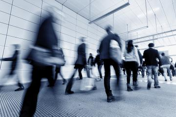 abstract blurred people walking in a corridor- Stock Photo or Stock Video of rcfotostock | RC-Photo-Stock