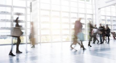 Abstract Blurredf People Walking at a modern hall- Stock Photo or Stock Video of rcfotostock | RC-Photo-Stock