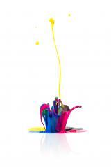 abstract CMYK paint splashing- Stock Photo or Stock Video of rcfotostock | RC-Photo-Stock