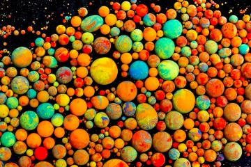 Abstract colorful bullets of oil ink paint- Stock Photo or Stock Video of rcfotostock | RC-Photo-Stock