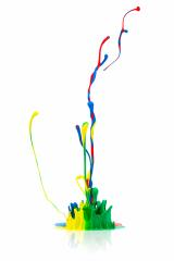 abstract Colorful paint splash on white- Stock Photo or Stock Video of rcfotostock | RC-Photo-Stock