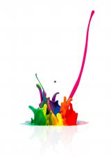 abstract Colorful paint splashing - Stock Photo or Stock Video of rcfotostock | RC-Photo-Stock
