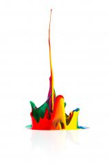 abstract Colorful paint splashing- Stock Photo or Stock Video of rcfotostock | RC-Photo-Stock