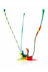 abstract Colorful paint splashing on white- Stock Photo or Stock Video of rcfotostock | RC-Photo-Stock
