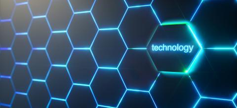 Abstract futuristic surface hexagon pattern with light rays- Stock Photo or Stock Video of rcfotostock | RC-Photo-Stock