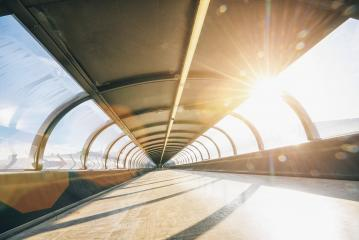 Abstract Futuristic tunnel background with sunlight- Stock Photo or Stock Video of rcfotostock | RC-Photo-Stock
