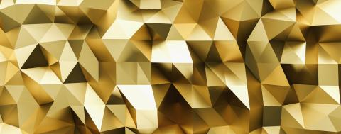 abstract gold crystal low poly background, luxery gold metallic texture,  panorama, wide panoramic polygonal wallpaper- Stock Photo or Stock Video of rcfotostock | RC-Photo-Stock