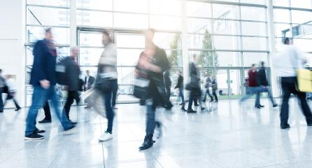 Abstract Image of Business People Walking at a Exhibition- Stock Photo or Stock Video of rcfotostock | RC-Photo-Stock