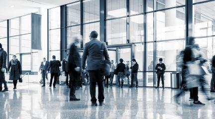 Abstract Image of Business People Walking in a lobby- Stock Photo or Stock Video of rcfotostock | RC-Photo-Stock
