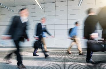 Abstract Image of Business People Walking in a modern office corridor- Stock Photo or Stock Video of rcfotostock | RC-Photo-Stock