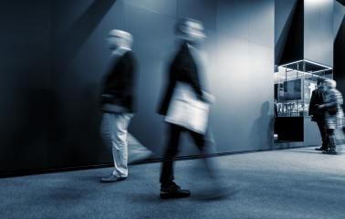Abstract Image of Business People Walking on a fair- Stock Photo or Stock Video of rcfotostock | RC-Photo-Stock