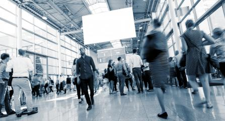 Abstract Image of Business People Walking on a trade fair- Stock Photo or Stock Video of rcfotostock | RC-Photo-Stock