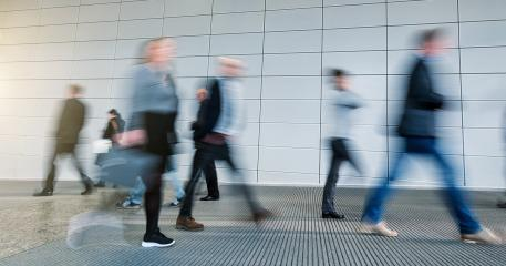 Abstract Image of Business People Walking on a tradeshow- Stock Photo or Stock Video of rcfotostock | RC-Photo-Stock
