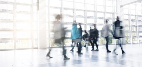 Abstract Image of People Walking at a traid fair hall- Stock Photo or Stock Video of rcfotostock | RC-Photo-Stock