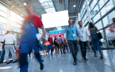 Abstract Image of People Walking on a tradeshow- Stock Photo or Stock Video of rcfotostock | RC-Photo-Stock