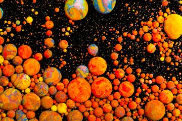 Abstract orange Acrylic ink bullets on black- Stock Photo or Stock Video of rcfotostock | RC-Photo-Stock