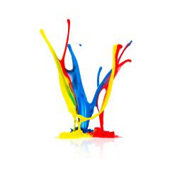 abstract paint splash isolated on white- Stock Photo or Stock Video of rcfotostock | RC-Photo-Stock