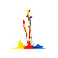 abstract paint splash on white- Stock Photo or Stock Video of rcfotostock | RC-Photo-Stock