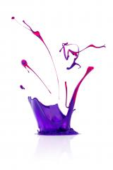 abstract paint splashing isolated on white- Stock Photo or Stock Video of rcfotostock | RC-Photo-Stock