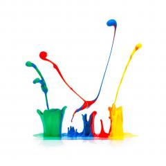 abstract paint splashing on white- Stock Photo or Stock Video of rcfotostock | RC-Photo-Stock