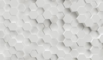 Abstract paper Hexagon white Background - 3D rendering - Illustration- Stock Photo or Stock Video of rcfotostock | RC-Photo-Stock