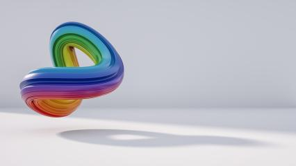 abstract rainbow logo, including copy space, 3D rendering : Stock Photo or Stock Video Download rcfotostock photos, images and assets rcfotostock | RC-Photo-Stock.: