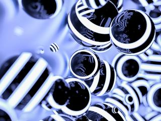 Abstract striped Glowing Balls in dark space- Stock Photo or Stock Video of rcfotostock | RC-Photo-Stock