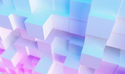 Abstract technological cube background, with colorful bright neon uv blue and purple lights : Stock Photo or Stock Video Download rcfotostock photos, images and assets rcfotostock | RC-Photo-Stock.: