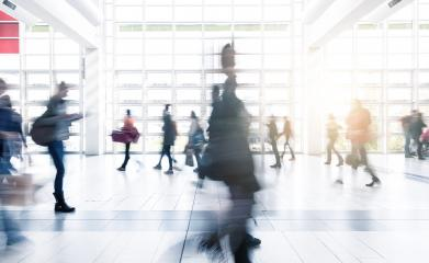 abstrakt image of people at a tradeshow floor- Stock Photo or Stock Video of rcfotostock | RC-Photo-Stock