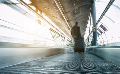 abstrakt image of people in speed on a skywalk- Stock Photo or Stock Video of rcfotostock   RC-Photo-Stock