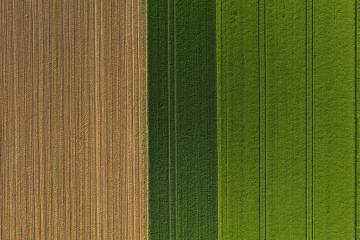 Aerial top view of a different agriculture fields in countryside on a spring day. Drone shot- Stock Photo or Stock Video of rcfotostock | RC-Photo-Stock