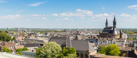 aerial view of aachen city with town hall - Stock Photo or Stock Video of rcfotostock | RC-Photo-Stock