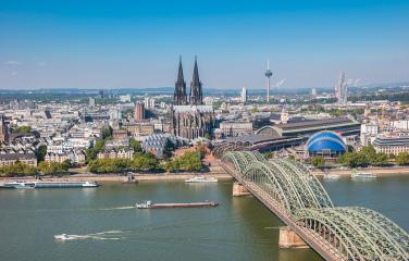 Aerial view of Cologne- Stock Photo or Stock Video of rcfotostock | RC-Photo-Stock