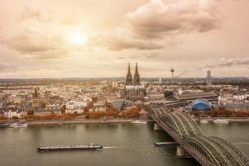 Aerial view of Cologne at autumn- Stock Photo or Stock Video of rcfotostock | RC-Photo-Stock
