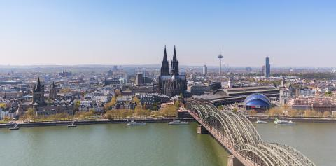 Aerial view of Cologne at spring- Stock Photo or Stock Video of rcfotostock | RC-Photo-Stock