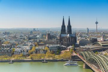 aerial view of cologne cathedral at spring- Stock Photo or Stock Video of rcfotostock | RC-Photo-Stock