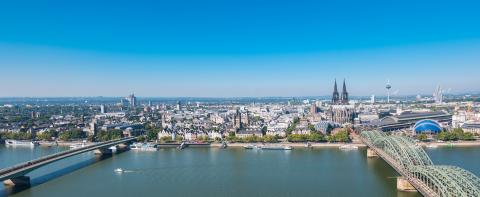 Aerial view of Cologne city at summer- Stock Photo or Stock Video of rcfotostock | RC-Photo-Stock