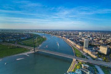 aerial view of Dusseldorf city : Stock Photo or Stock Video Download rcfotostock photos, images and assets rcfotostock | RC-Photo-Stock.: