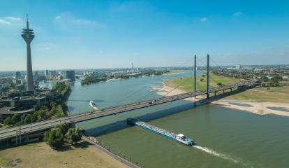 Aerial view of Dusseldorf in North Rhine-Westphalia Germany- Stock Photo or Stock Video of rcfotostock | RC-Photo-Stock
