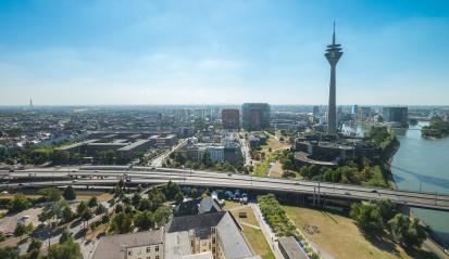 aerial view of Dusseldorf (NRW) in germany- Stock Photo or Stock Video of rcfotostock | RC-Photo-Stock