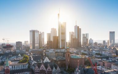 Aerial view of Frankfurt am Main with Hauptwache in Frankfurt- Stock Photo or Stock Video of rcfotostock | RC-Photo-Stock